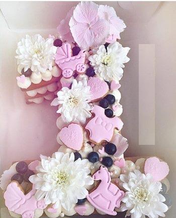 картинка торт на годик девочке