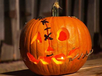 черно белая тыква на хэллоуин картинки