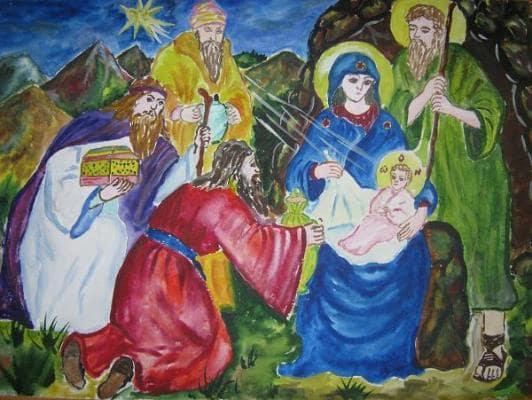 картинки рождество христово для детей рисунки
