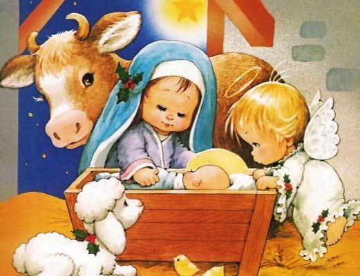 картинки на рождество христово для детей распечатать