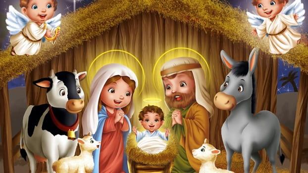 картинка рождество христово для детей черно белые