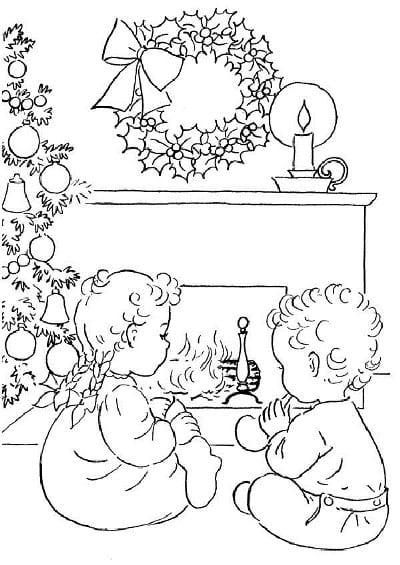 рождественские картинки для детей раскраска