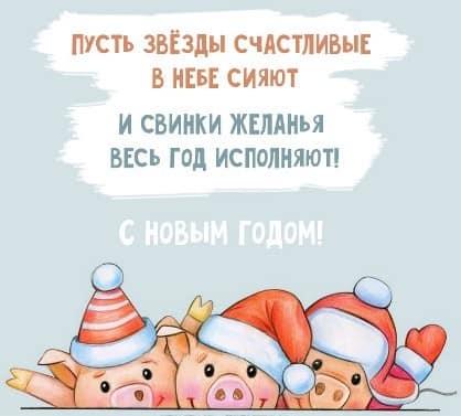 прикольные новогодние картинки год свиньи