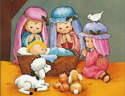 картинки рождество христово для детей нарисованные