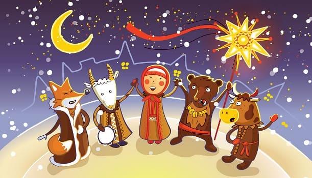 колядки на рождество для детей на русском