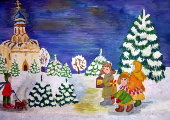 стихи колядки на рождество для детей
