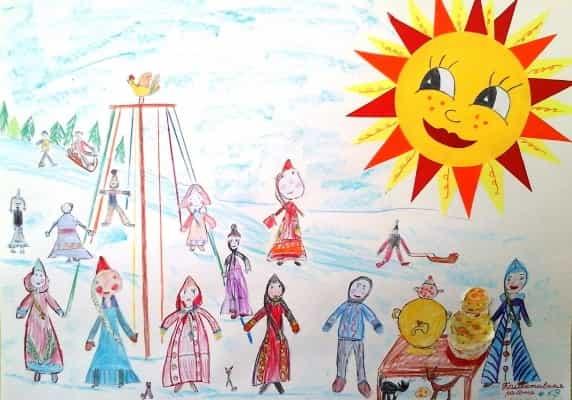 детские картинки про масленицу