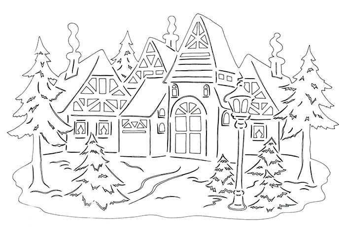 рисунки на окна зимние фото