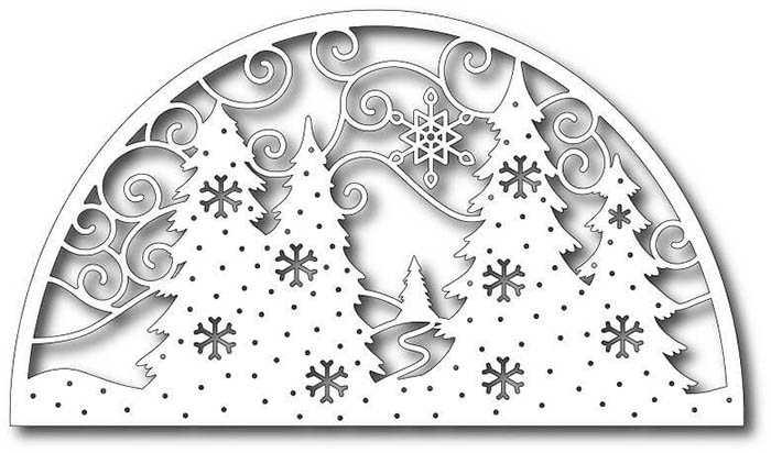 зимний пейзаж белой краской на окно