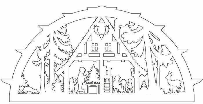 новогодние белые рисунки на окна шаблоны