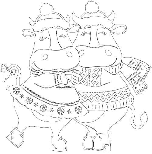 как нарисовать быка на стекле трафарет