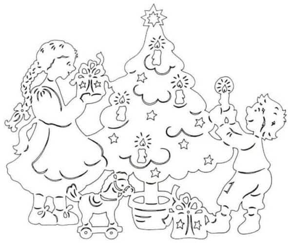новогодние раскраски для девочек