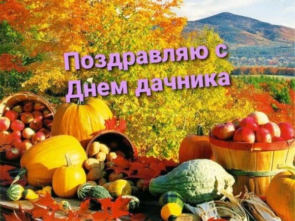 День дачника России - открытки