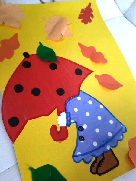 Простая поделка из бумаги в детский сад на тему осень
