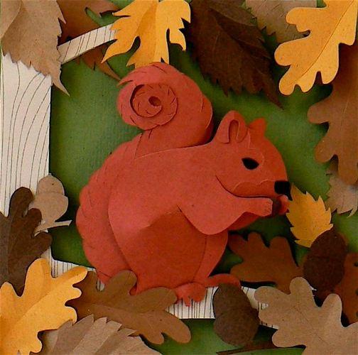 красивая гирлянда из листьев своими руками
