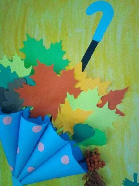 осенний зонтик - поделка в школу 1 класс