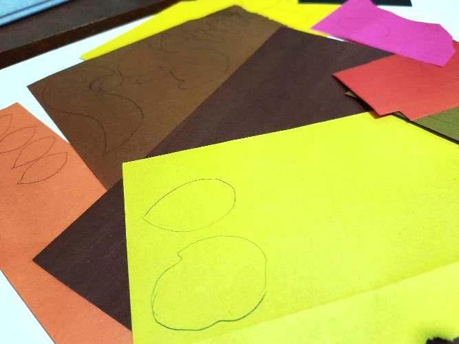 вырезаем осенние листья из цветной бумаги - шаблоны, описание, инструкция
